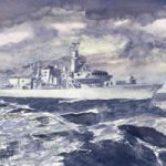 Fine Art Prints – Royal Navy Ship At Sea On Patrol – HMS Monmouth – Black Duke