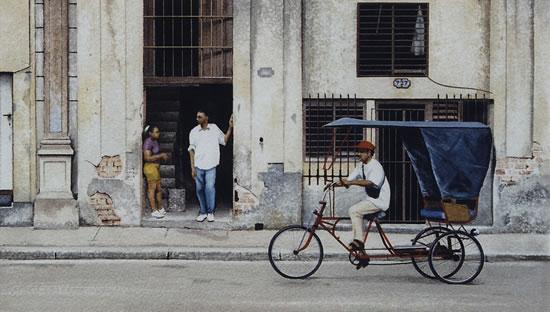 Havana Street Life Bicycle Taxi - Surrey Artist Noël Haring