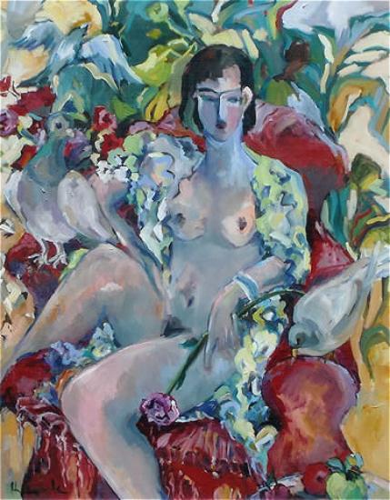 Homage to Henri Nude Woman - Hildegarde Reid Art Tutor