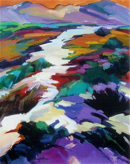 Kalahari Desert - Contemporary Art - Hildegarde Reid Sunbury on Thames Art Society Artist