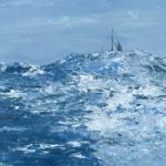 Mid Atlantic Fine Art Print – Painting of boat in high swelling seas