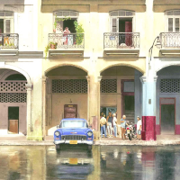 Noël Haring Surrey Artist Havana Cuba – After the Downpour