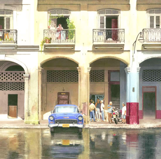 Noël Haring Surrey Artist Havana Cuba After the Downpour
