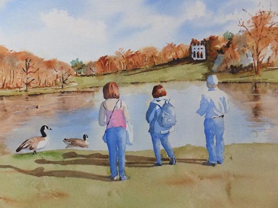 Painshill Park Cobham Surrey - David Harmer Surrey Artist