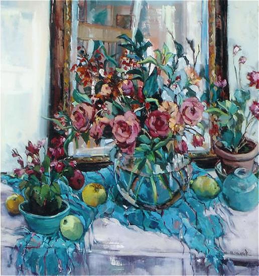 Reflections Still Life Painting Hildegarde Reid Surrey Artist