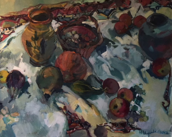 Studio Pots - Oil-Painting by Sunbury on Thames Art Society Artist Hildegarde Reid