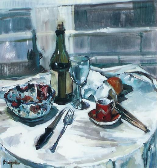 Study in Greys - Molesey Art Society Artist Hildegarde Reid