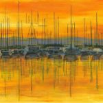 Sunset Harbour – Fine Art Prints – Shepperton Middlesex Artist Derek Cooke