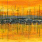 Sunset Harbour – Fine Art Prints – Shepperton Middlesex Artist Derek Cooke