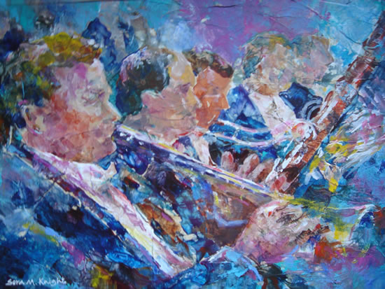 Art Gallery - Orchestra Wind Section - Classical Music Painting