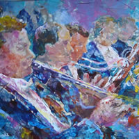 Art Gallery – Orchestra Wind Section – Classical Music Painting