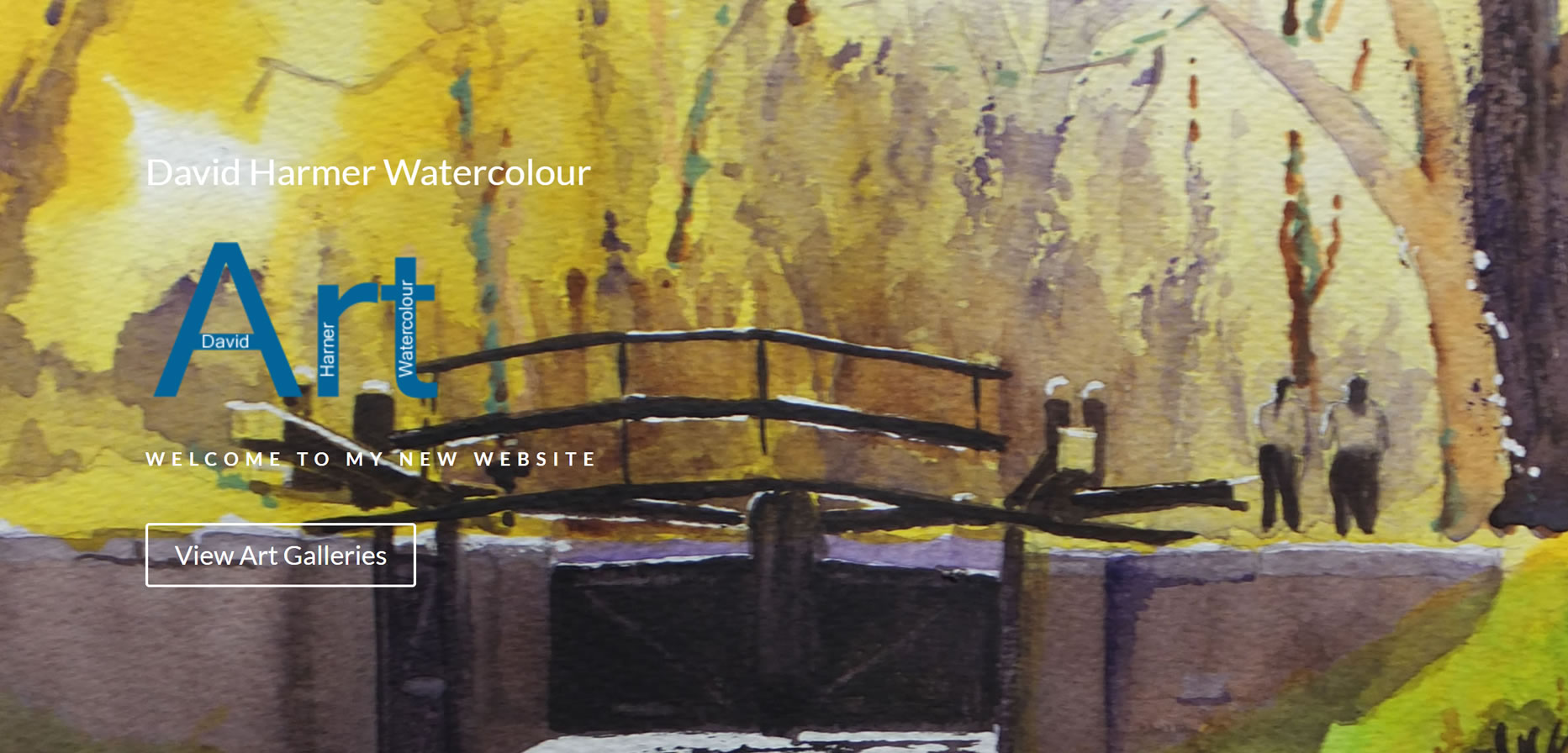Art Website Builder - Surrey Artists site for David Harmer Watercolour