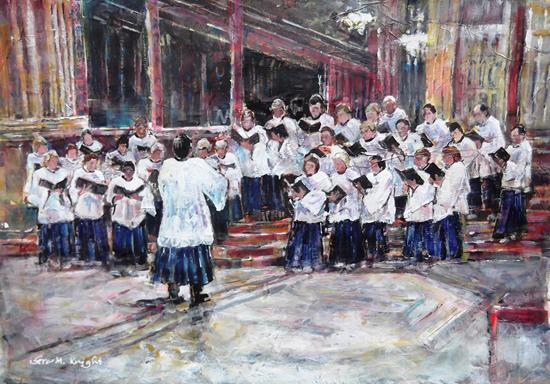 Church Choir Singing - Conductor - Surrey Art Gallery