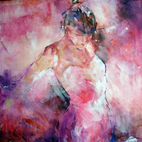 Dancers Art Gallery – Woman Absorbed In Dance