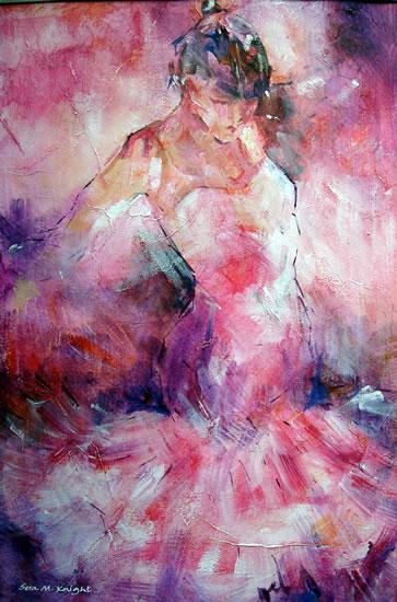 Dancers Art Gallery - Woman Absorbed In Dance