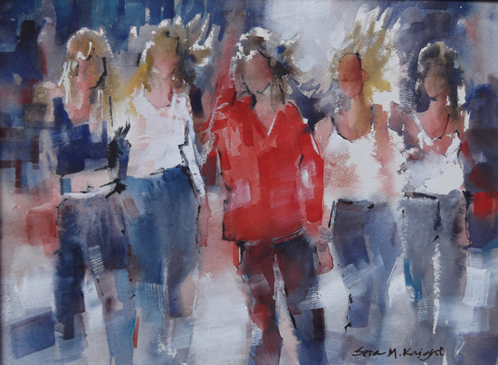 Girls - Best Friends - Art by Sera Knight Surrey Artist