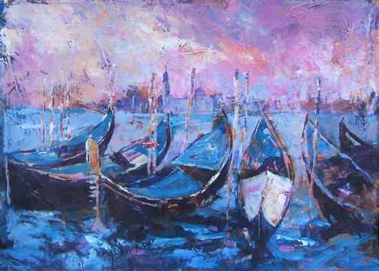 Gondolas - Venice - Italy - Boats Art Gallery