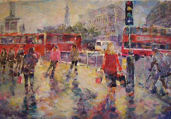 London - City Street Scene - Surrey Art Gallery
