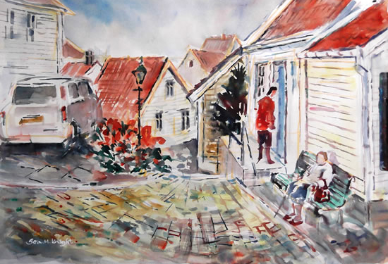 Norway Stavanger -Surrey Artist Sera Knight