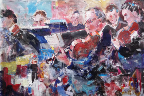 Orchestra - Full-Swing - Art by Surrey Artist Sera Knight