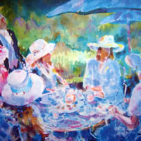 Royal Ascot Races – Tea Party With Friends In Hats