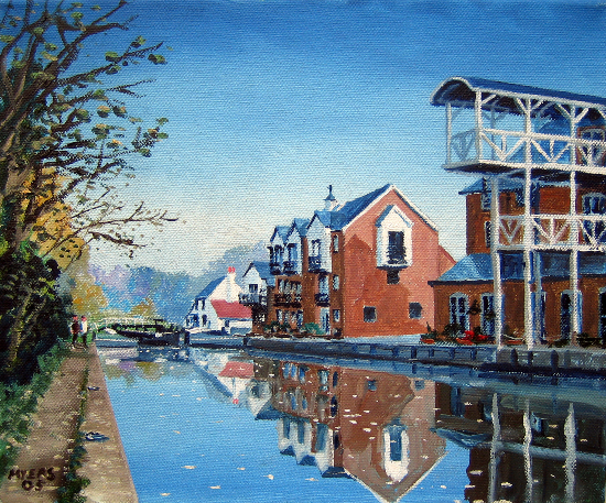Thames Lock Weybridge Surrey - Wey Navigation Canal Art Gallery