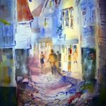 Art Gallery – Street Scene Watercolour Painting – Woking Surrey Artist Sera Knight