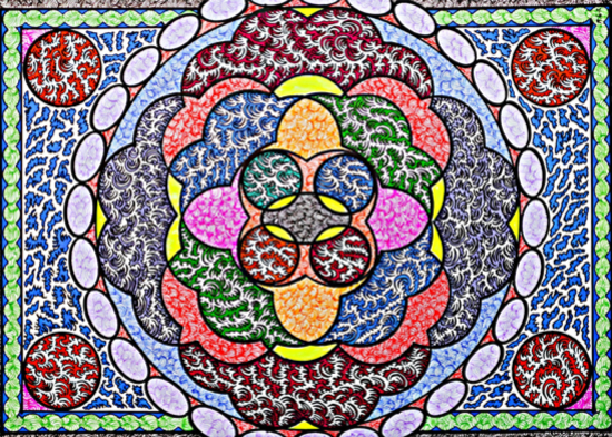 Rose Pattern Imagery - Artist Martyn Wyndham-Read