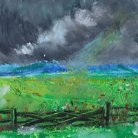 Thunderclouds painting - Weather Art Gallery