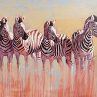 Zebras - Wildlife Art Gallery of artist Catherine Ingleby