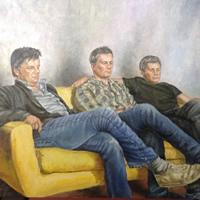 Group Portrait Painting Brothers Reigate Surrey Artist
