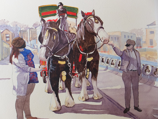 Guildford Brewery Dray Horses