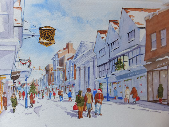 Guildford High Street Christmas Shopping - Surrey Art Gallery