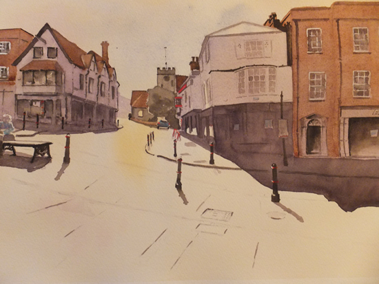 Guildford - Quarry Street - Surrey Scenes Art Gallery