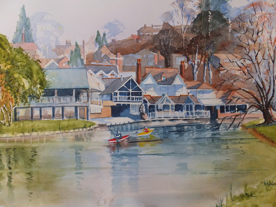 Guildford - River-Wey - Surrey Art Gallery