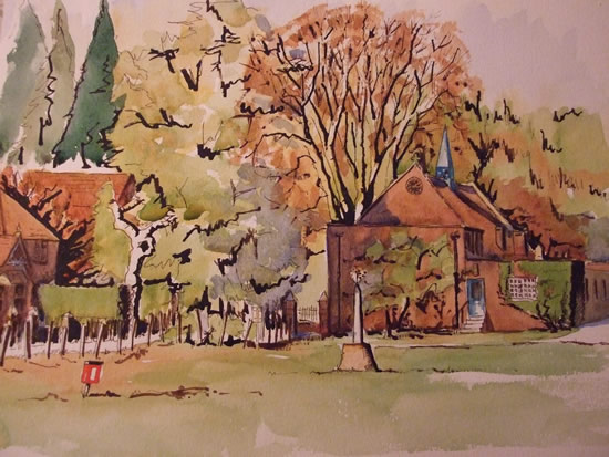 Lord Pirbright's Hall - Surrey Painting