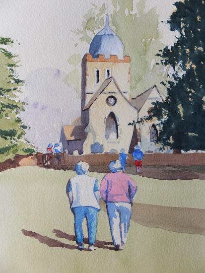 Old Albury Church near Shere - Surrey Art Gallery