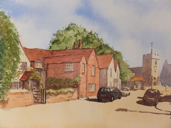 Old Woking and St Peters Church - Surrey Scenes Art Gallery