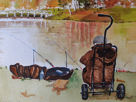 Painshill Park Cobham Surrey - Fishing Art