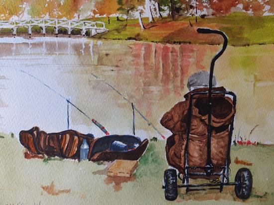Painshill Park Cobham Surrey - Fishing Art