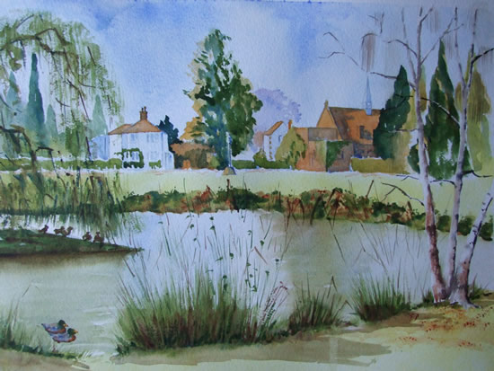 Pirbright Pond - Surrey Scenes Art Gallery