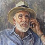 Portrait Painting of Man by Woking Art Society member Ian Henderson – Redhill Surrey Artist – Dr Keith Fenwick