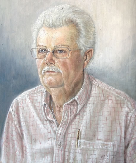 Portrait Painting of Man - Reigate Surrey Artist