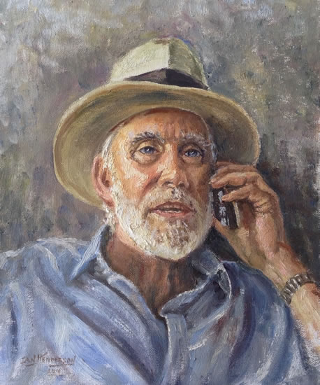 Portrait Painting of Man by Woking Art Society member Ian Henderson - Redhill Surrey Artist - Dr Keith Fenwick