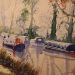 Pyrford – Wey Navigation Canal – Surrey Art Gallery – Painting