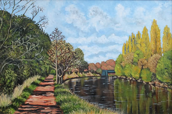 River Thames Painting - Walk Towards Weybridge