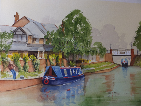 St Johns Woking - Basingstoke Canal Surrey Art