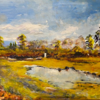 Surrey's Last Wilderness – Painting by Guildford Art Society member Ingrid Skogland from Ash