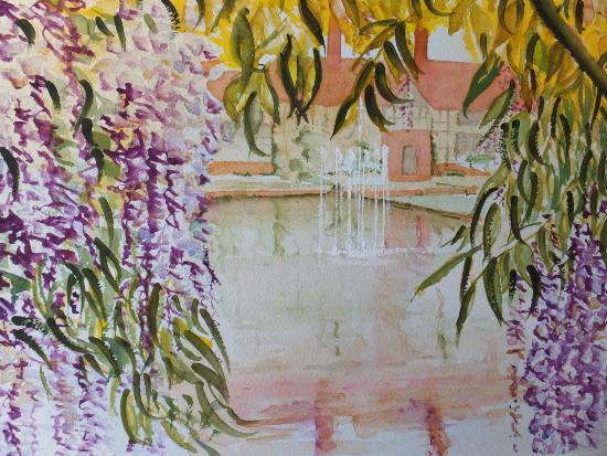 Wisley Gardens Wisteria - Surrey Art Gallery