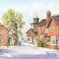 Abinger Hammer Surrey – English Village – Watercolour Artist David Drury